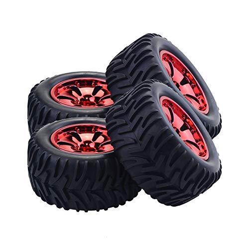 4PCS RC Car Wheel Rim Tire for HPI,HSP Savage,XS,TM Flux,MT,ZDRacing,LRP 1/10 Truggy Monster Truck Rubber Tyre 12mm Hex❤️