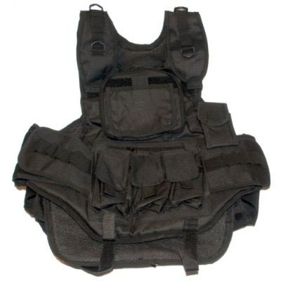 GXG Paintball Heavy Duty Tactical Vest - Black