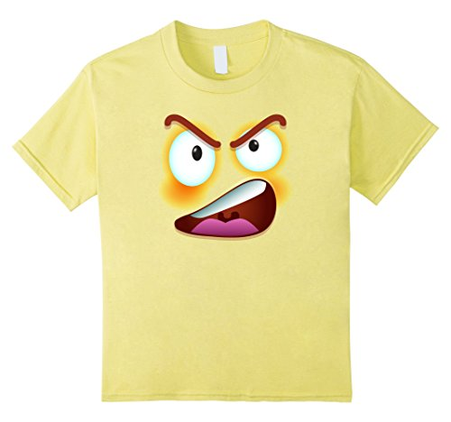 Kids Halloween Costume Gift - Angry Emoji face icon T shirt 8 (Child Mummy Ghost Face Costumes)