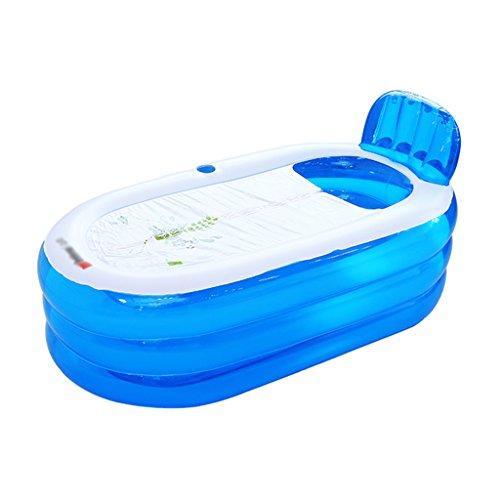 Bañeras Jacuzzis de Hidromasaje Inflable para Adultos Azul para baño doméstico de plástico para niños con Engrosamiento...