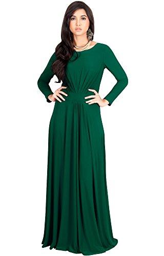 Koh Koh Petite Womens Long Full Sleeve Sleeves Flowy Empire Waist