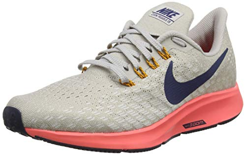 - Nike Men's Air Zoom Pegasus 35 Running Shoe Moon Particle/Blackened Blue/White Size 8.5 M US