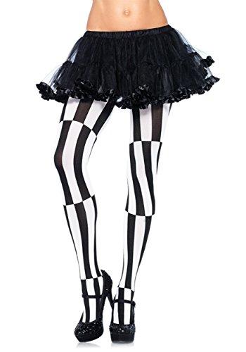 Halloween Illusion (Leg Avenue Women's Plus-Size Optical Illusion Pantyhose, Black/White, 3X-4X)