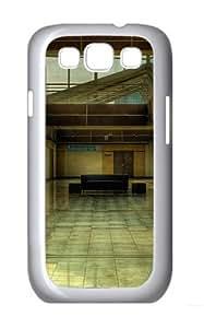 Samsung Galaxy S3 Case Cover - Building Lobby Brand Design PC White Case for Samsung S3/I9300