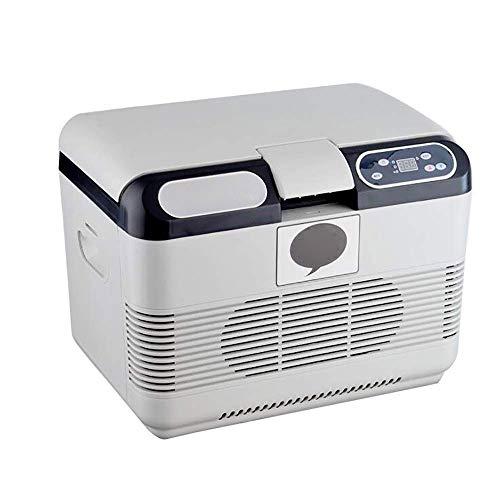 IRVING Mini Portable Eraser Fridge, Cools & Heats, 15 Liter Capacity, 12v/24v Used for Travel Picnic Office ()