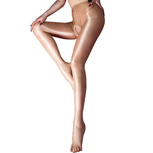 Lace Silk Pantyhose (Open Crotch Sexy Silk Stocking Lace Socks Pantyhose Sexy Women Tights for Sex (Nude))