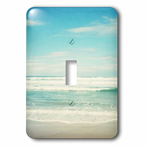 3dRose lsp_164479_1 Gentle Ocean Waves Beach Theme Art Light Switch Cover from 3dRose
