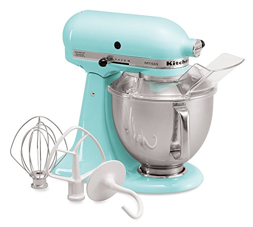(KitchenAid KSM150PSIC Artisan Series 5-Qt. Stand Mixer with Pouring Shield - Ice)