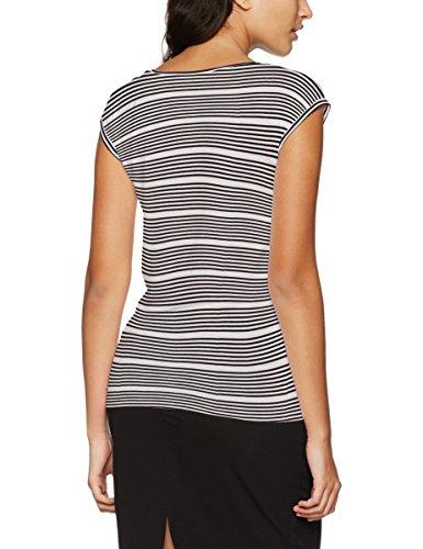 Only Onlsannie S/S Top Jrs, Camiseta para Mujer Multicolor (Black Stripes:CLOUD Dancer)