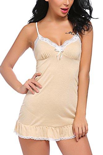 11a8f52ec19 Avidlove Women Sleepwear Full Slips Strappy Chemises Lace Babydoll Sexy  Nightwear