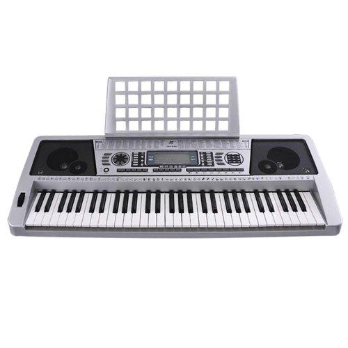 silver display electronic keyboard sheet