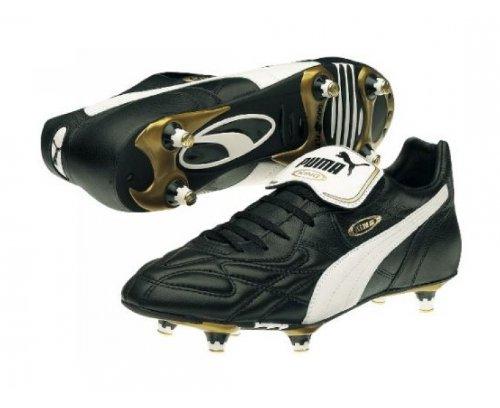 Puma - Scarpe sportive - Calcio King Pro SG, Uomo, Nero (Schwarz (black-white-gold 01)), 43