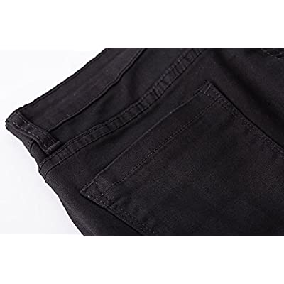 roswear Women's Ripped Denim Destroyed Mid Rise Stretchy Bermuda Shorts Jeans at Women's Clothing store