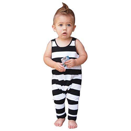 Newborn Sleeveless Striped Jumpsuit Clothes