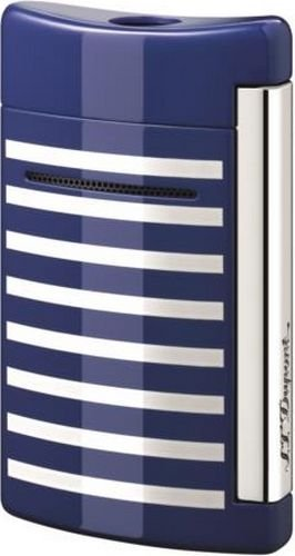 st-dupont-minijet-blue-with-white-stripes-torch-flame-lighter-10105