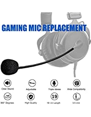 Turtle Beach Mic Replacement - AMYYMA 3.5mm Detachable Game Microphone Boom for PDP Afterglow AG6 Ear Force Turtle Beach Xbox One Stealth 400 420x 450 500p 520 Recon 50x 50p 50 60p 150 Gaming Headset