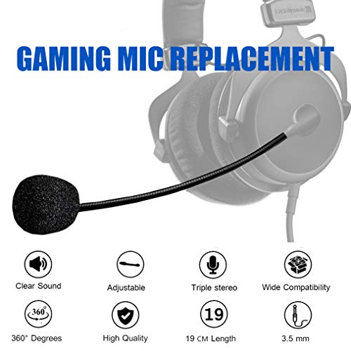Turtle Beach Mic Replacement - AMYYMA 3.5mm Detachable Game Microphone Boom for PDP Afterglow AG6 Ear Force Turtle Beach Xbox One Stealth 400 420x 450 500p 520 Recon 50x 50p ()