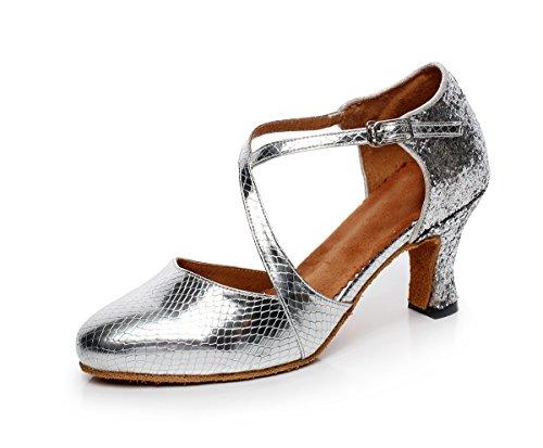 Minitoo , Damen Tanzschuhe, weiß - White-1cm Heel - Größe: 42 2/3