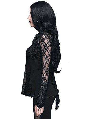 Devil Fashion Lace Sleeve Tunic Top XS