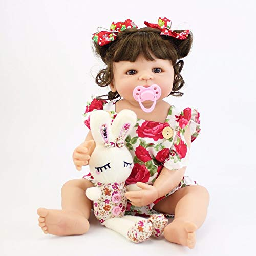 NPK collection 55cm Full Silicone Vinyl Body Reborn Doll Girl Lifelike Newborn Baby Princess Toddler Toy Bebe Bathe Accompanying Toy Birthday Gift