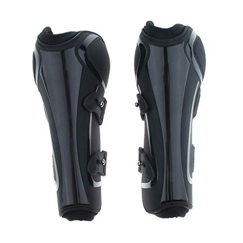 Prettyia Open Front Jumping Boots for Front or Rear Legs Optional - Black Front, S M