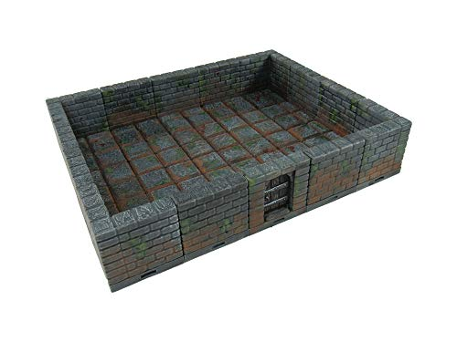 Locking Dungeon Tiles - Masonry and Stone, Wargame Terrain for Tabletop 28mm Miniatures, 3D Printed Scenery, EnderToys (Dungeon Tiles Dnd)