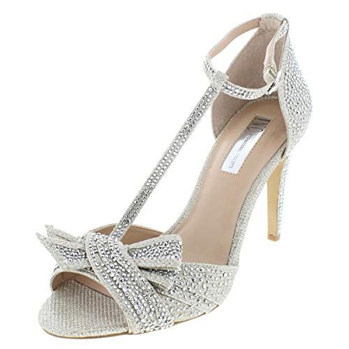 INC International Concepts Womens Risha2 Open Toe Special, Champagne, Size 8.0 (Inc International Concepts Heels)