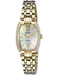 Seiko Womens SUP286 Tressia Analog Display Japanese Quartz Gold Watch