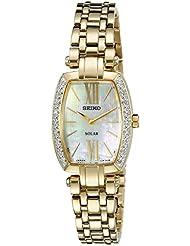 Seiko Womens SUP286 Tressia Analog Display Japanese Quartz Gold Watch