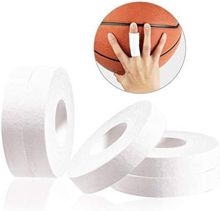 JEEZAO 5 Piezas BJJ Cinta Adhesiva Deportiva,Proteger el Dedo Tape para Escalada,Fútbol, Portero, Golfistas, Baloncesto,Crossfit,Voleibol 1CM/1.5CM x ...