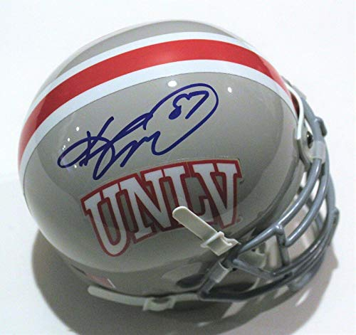 Keenan McCardell Signed UNLV Runnin Rebels Mini Football Helmet W/COA 2019 - Autographed College Mini Helmets
