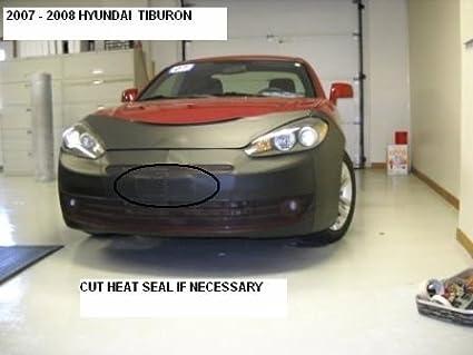 Lebra 2 Piece Front End Cover Black Hyundai Tiburon 2007 2008 Fits Car Mask Bra