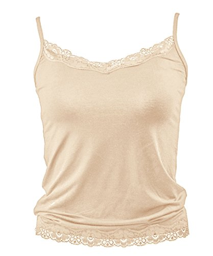 ANNY Women's Beige Casual Lace Trim Camisole Size XS