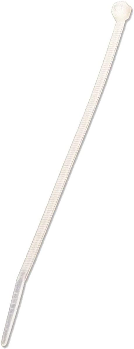 NavePoint 14 Inch Nylon Cable Wire Zip Tie 50 lbs Natural White 400 Pack Lot Pcs Qty
