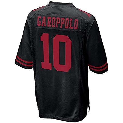 OKnown Men's/Women's/Youth #10 Jimmy Garoppolo Black Game Jersey Youth XL