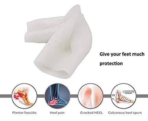 - Fersenlifting-Gel-Einlegesohlen 1PAIR Orthop/ädische Einlegesohle in voller L/ängeCoach Fu Invisible Height Increase Insoles Linderung von Fersenschmerzen und Ferse Plantarfasziitis-Fersenschutz