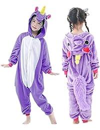 Kids Unicorn Onesie Pajamas One-Piece Animal Cosplay Costume for Xmas  Halloween 094d3a34a