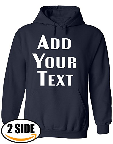 Valentine Sweatshirt Name (TEEAMORE Men Women Custom Hoodie, Add Your Text, Design Your Own, Front and Back)