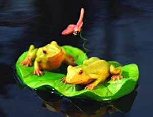 Frog Pair on Lily Pad w/ Dragonfly