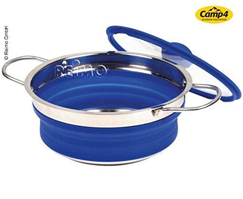 Silicona olla, plegable, 30 20 x 30 plegable, x 3,5/8,5 cm), color azul 76ddbf