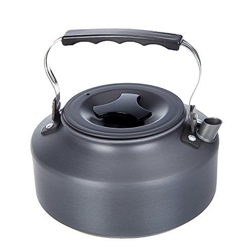 1.1L tragbare Super Leicht Wasserkocher Teekanne Kaffeekanne aus eloxiertem Aluminium für Outdoor Wandern Camping Picknick
