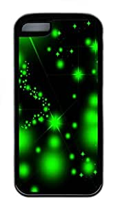 for iphone 5c Case Green Starry TPU for iphone 5c Case Cover Black