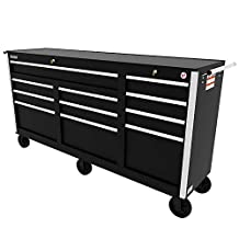 SPG International 11-drawer Tool Cabinet and Tool Chest Combo (Black)