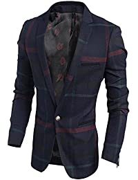 "<span class=""a-offscreen"">[Sponsored]</span>KDHJJOLY New Men's Cool Vintage Plaid Non-Iron Quality Suit Blazer"