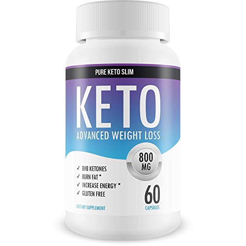 Pure Keto Slim - Keto Diet Pills - Exogenous Ketones Help Burn Fat - Weight Loss Supplement to Burn Fat - Boost Energy and Metabolism - 60 Capsules (Best Pills To Lose Weight 2019)