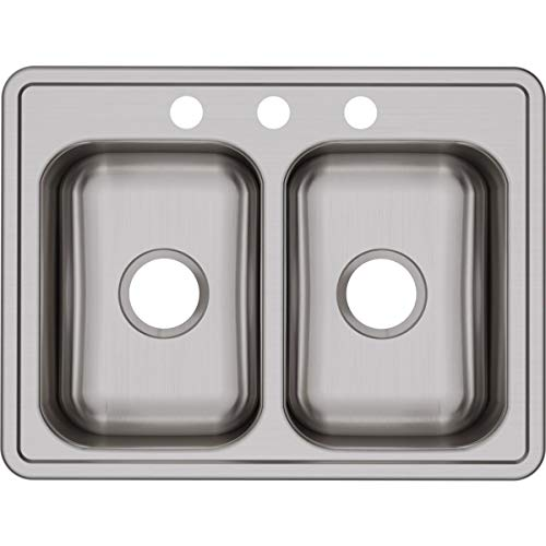 Dayton D225193 Equal Double Bowl Top Mount Stainless Steel - Sink Dayton Steel Stainless 3