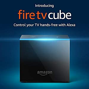 Fire TV Cube, hands-free with Alexa and 4K Ultra HD (includes all- Alexa Voice Remote), streaming media player by Amazon