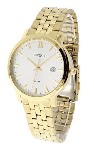Seiko-White-Dial-Stainless-Steel-Quartz-Mens-Watch-SUR122