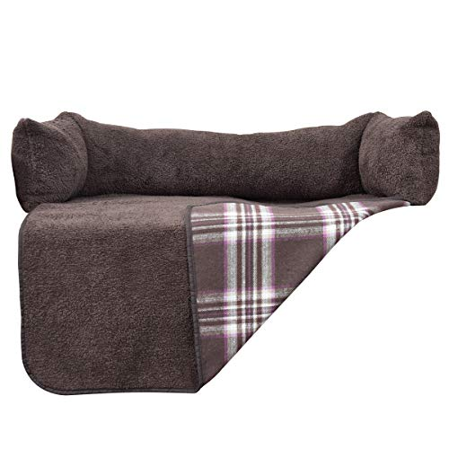 Easy-Going Sofa Cover loveseat Chair Cover,Furniture Protector Reversible, Pet,Dog,Cat,Bed Cover(L, Chocolate/Chocolate Plaid)