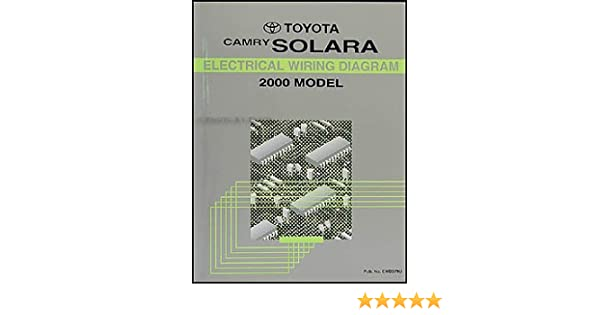 2000 toyota camry solara coupe wiring diagram manual original: toyota:  amazon com: books